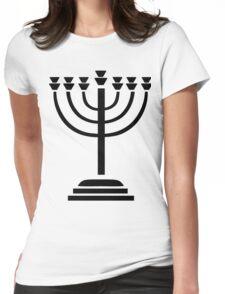 Menorah Womens Fitted T-Shirt