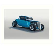 1934 Ford 'Three Window' Coupe I Art Print