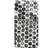 Black polka dot iPhone Case/Skin