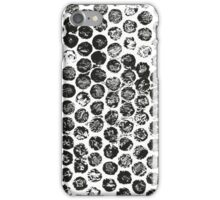 Black polka dot iPhone Case/Skin