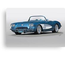 1959 Corvette Convertible Canvas Print