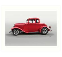 1932 Ford 'Five Window' Coupe Art Print