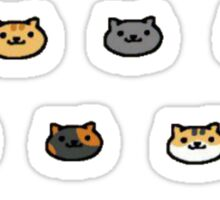 Neko Atsume Kitty Collector Cat Faces Sticker
