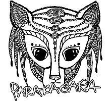 Parakagara - black pen hand-drawn alien Photographic Print