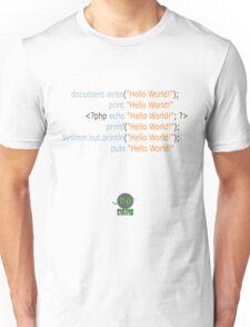 Hello World in Multiple Languages (Light) Unisex T-Shirt