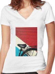 BikeLife Japan T-shirt femme moulant col V