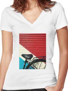 BikeLife Japan Women's Fitted V-Neck T-Shirt
