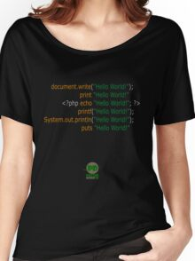 Hello World in Multiple Languages (Dark) Women's Relaxed Fit T-Shirt