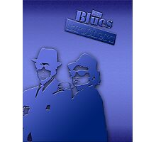 The Blues Brothers Classic Blue Photographic Print