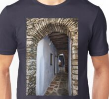 Arched paved side street  Unisex T-Shirt