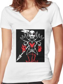 Undyne the Undying Shirt Women's Fitted V-Neck T-Shirt