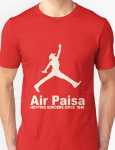 Air Paisa Hopping Borders Since 1846 Funny Mexican Latino Immigration funny nerd geek geeky T-Shirt