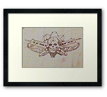 Skulls and guns  Framed Print