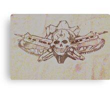 Skulls and guns  Canvas Print