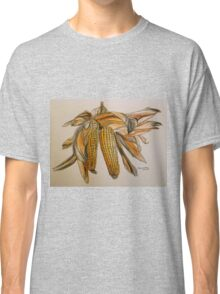 Drying sweetcorn, Italy pen and wash 2010 Classic T-Shirt