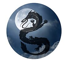 Dragon Haku Spirited Away night sky Photographic Print