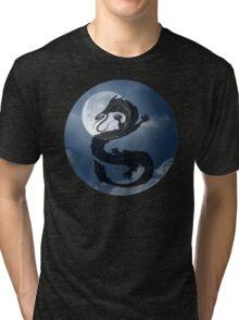 Dragon Haku Spirited Away night sky Tri-blend T-Shirt