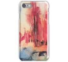 Landscape with red trees (Paesaggio 9-16) iPhone Case/Skin