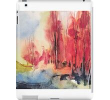 Landscape with red trees (Paesaggio 9-16) iPad Case/Skin
