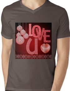 Happy Valentine's Day Mens V-Neck T-Shirt