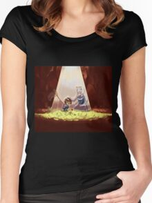 Cute Undertale Design Women's Fitted Scoop T-Shirt