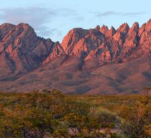 Organ Mountains At Sunset Sticker