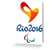 Paralympics in Rio 2016, best logo Greeting Card