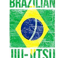 Brazilian Flag Brazilian Jiu Jitsu by Teelime