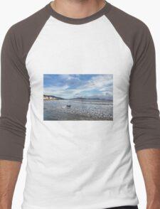 Lyme Regis Seascape 4 - January 2016 Men's Baseball ¾ T-Shirt