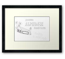 Allo Allo - Monsieur Alphonse Undertaker Framed Print