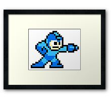 Mega Man Pixel Art Framed Print
