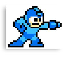 Mega Man Pixel Art Canvas Print