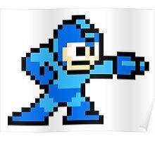 Mega Man Pixel Art Poster