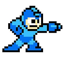 Mega Man Pixel Art Photographic Print