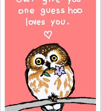 Owl Give You One Guess Sticker