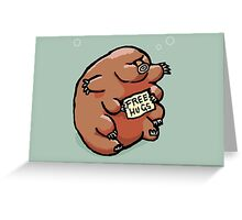 Free Hugs Tardigrade Greeting Card
