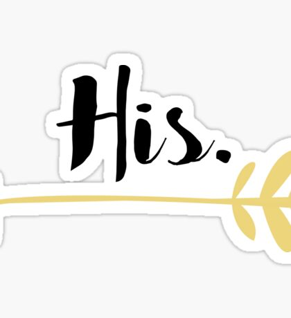 His and Hers - Love Sticker