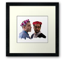 lito and hernando with flower crown Framed Print
