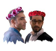 lito and hernando with flower crown Photographic Print