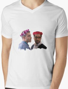 lito and hernando with flower crown Mens V-Neck T-Shirt