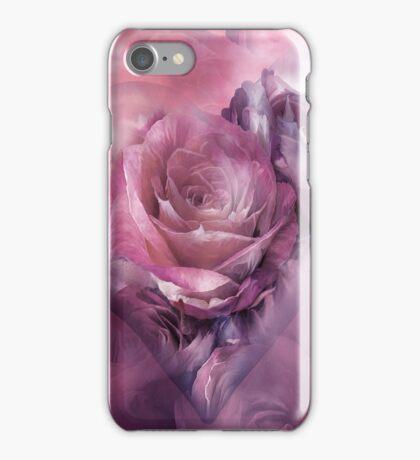 Heart Of A Rose - Mauve Lavender iPhone Case/Skin