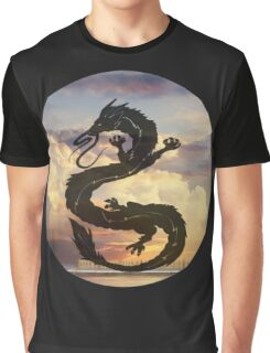 Dragon Haku Spirited Away clouds Graphic T-Shirt