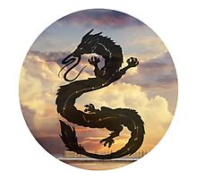 Dragon Haku Spirited Away clouds Photographic Print