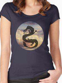 Dragon Haku Spirited Away clouds Women's Fitted Scoop T-Shirt