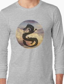 Dragon Haku Spirited Away clouds Long Sleeve T-Shirt