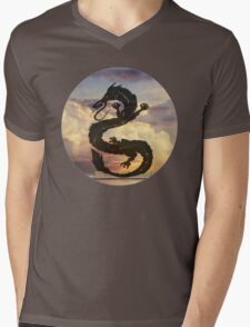 Dragon Haku Spirited Away clouds Mens V-Neck T-Shirt
