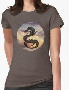 Dragon Haku Spirited Away clouds Womens Fitted T-Shirt