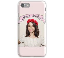 Aubrey Plaza - Don't touch iPhone Case/Skin