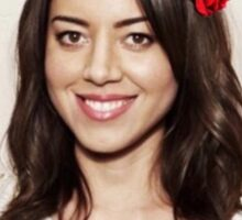 Aubrey Plaza - Don't touch Sticker