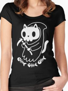 Reaper Cat Women's Fitted Scoop T-Shirt